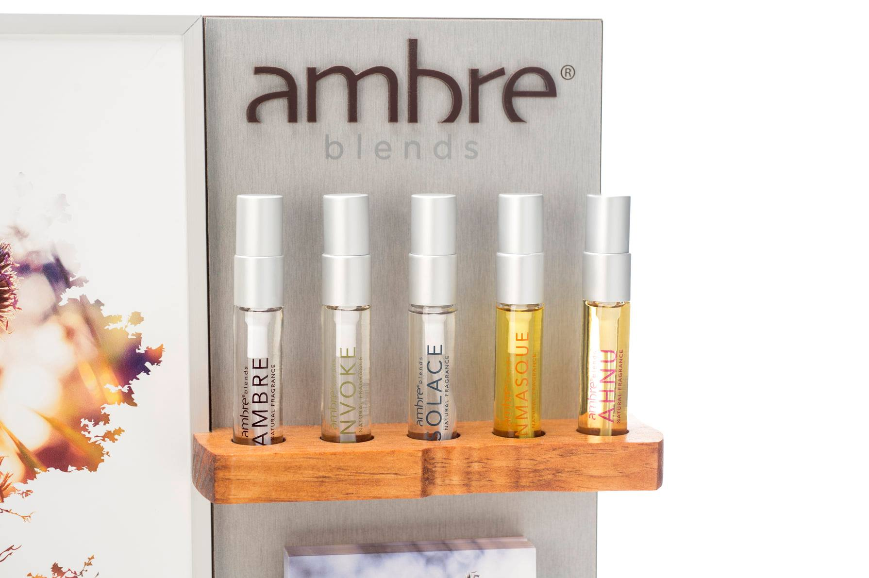 Ambre Blends Oil Essence Display